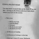 Правилата вкъщи по време на ваканция