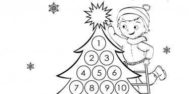 Отбройте дните до Коледа! - календар за разпечатване